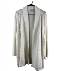 Peter Nygard White open front  Cardigan 3X